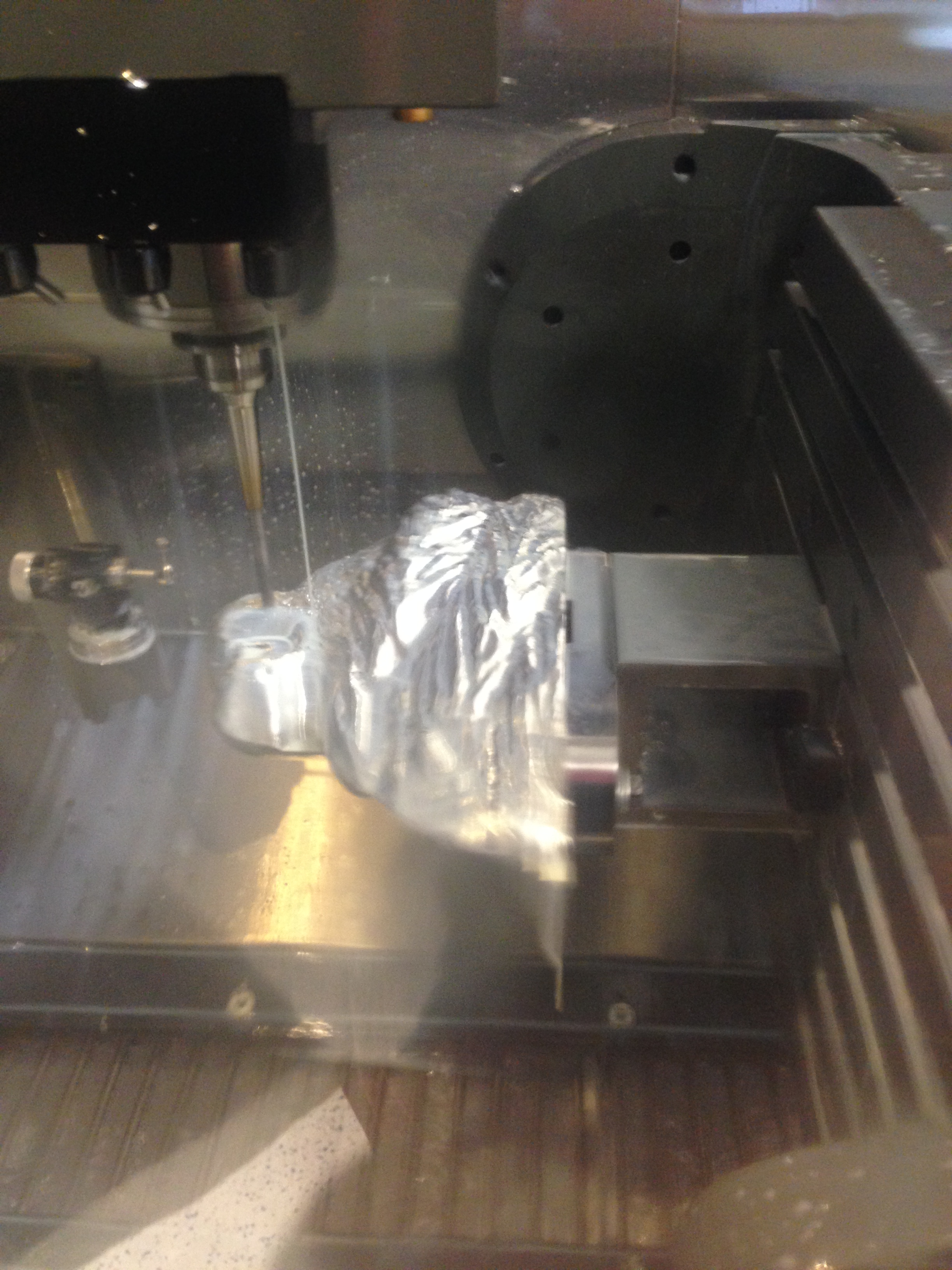 Lion's Head on 5 axis Haas